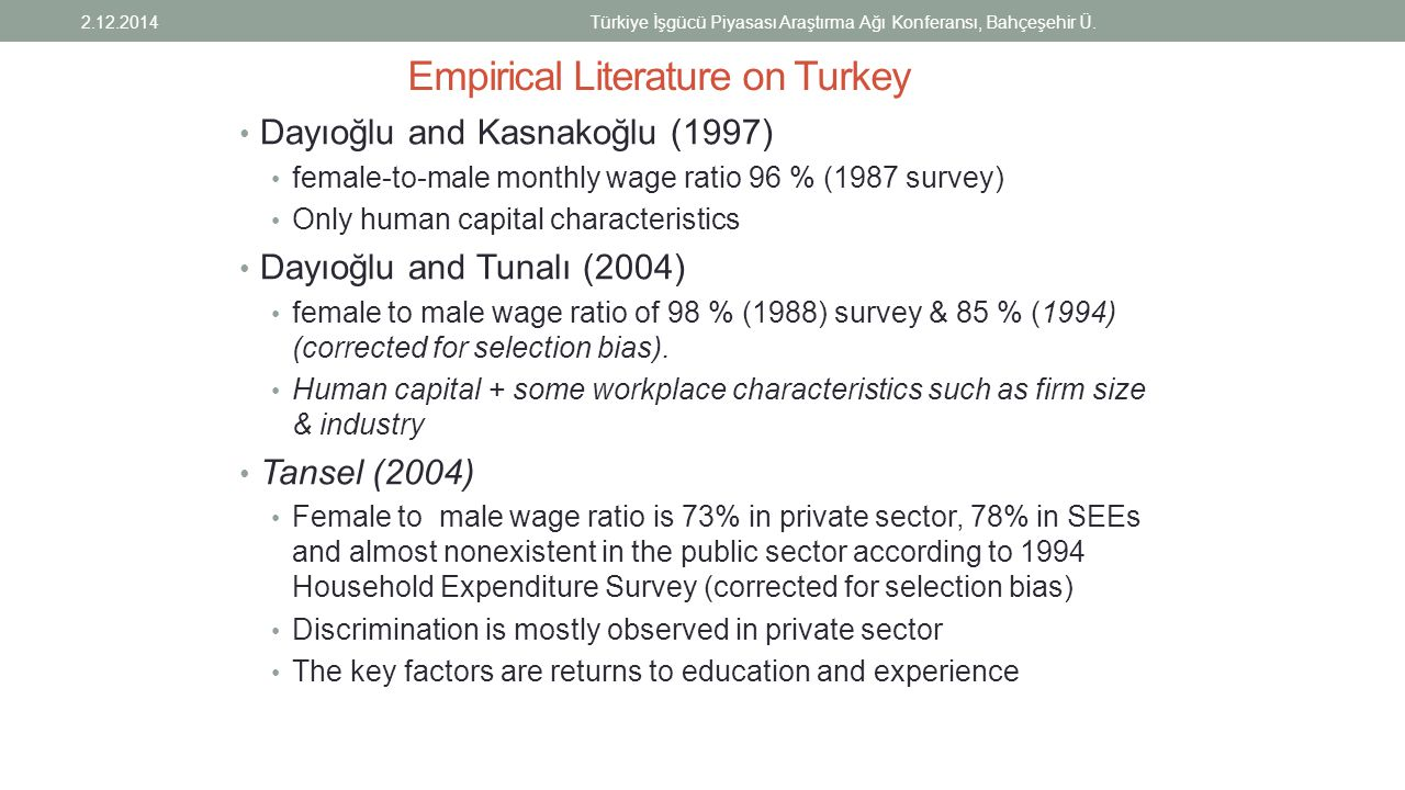 Empirical Literature on Turkey
