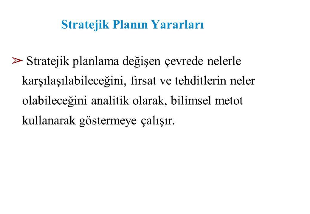 Stratejik Planın Yararları