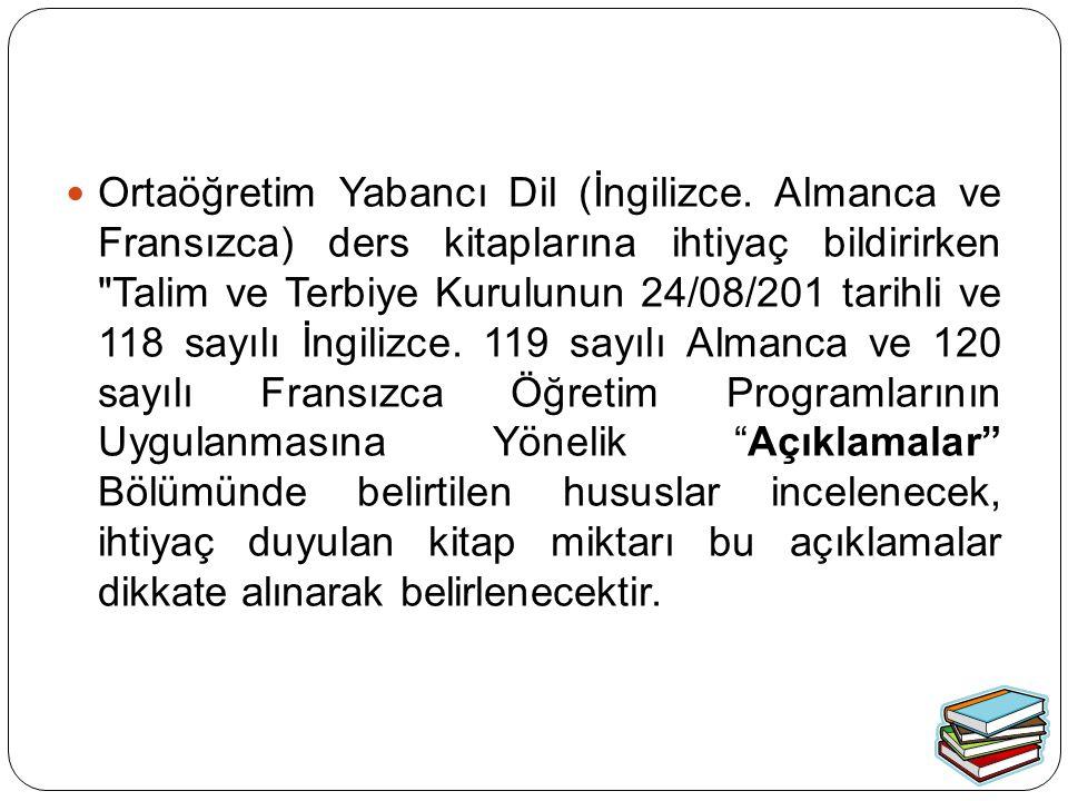 Ortaöğretim Yabancı Dil (İngilizce