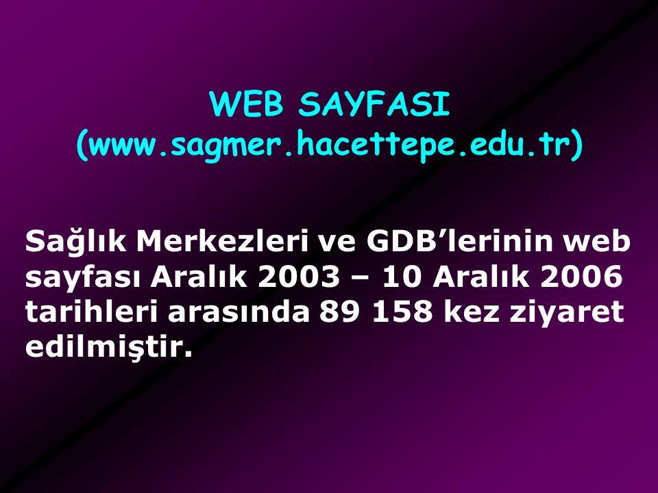 WEB SAYFASI (www.sagmer.hacettepe.edu.tr)