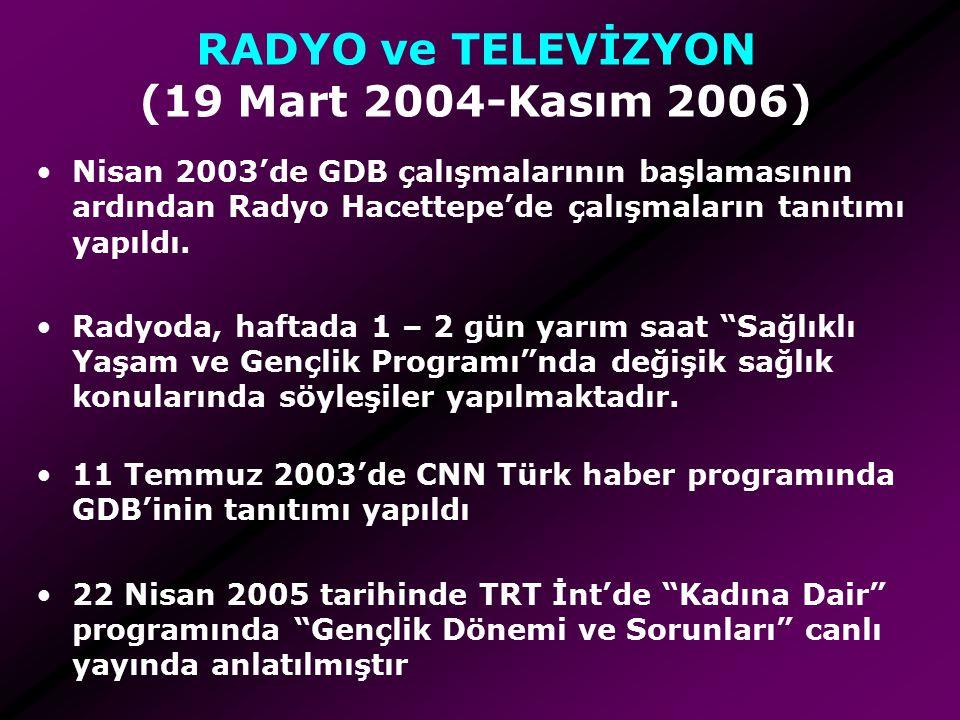 RADYO ve TELEVİZYON (19 Mart 2004-Kasım 2006)