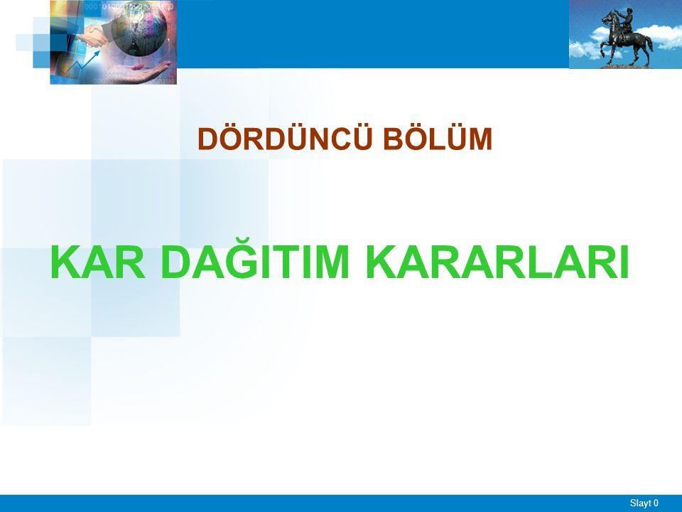 FİNANSAL KARAR TÜRLERİ