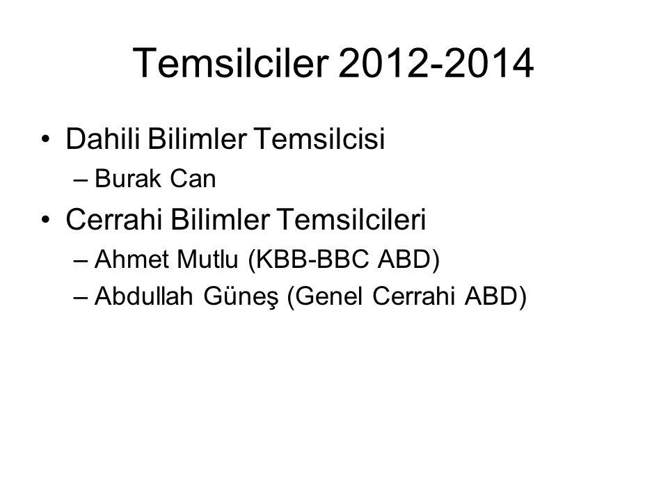 Temsilciler 2012-2014 Dahili Bilimler Temsilcisi