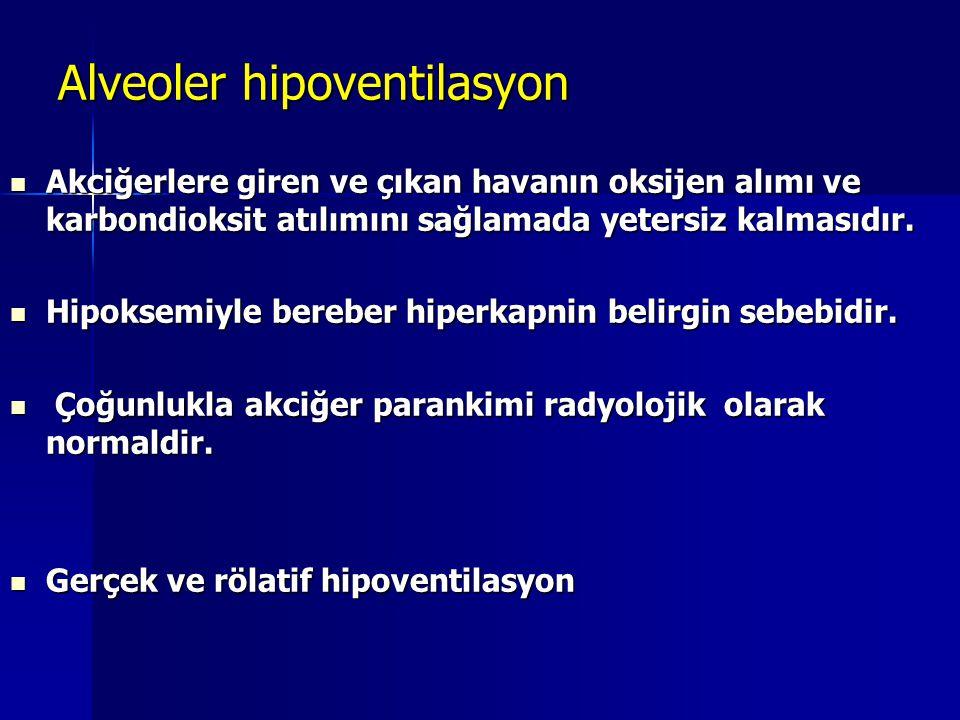 Alveoler hipoventilasyon