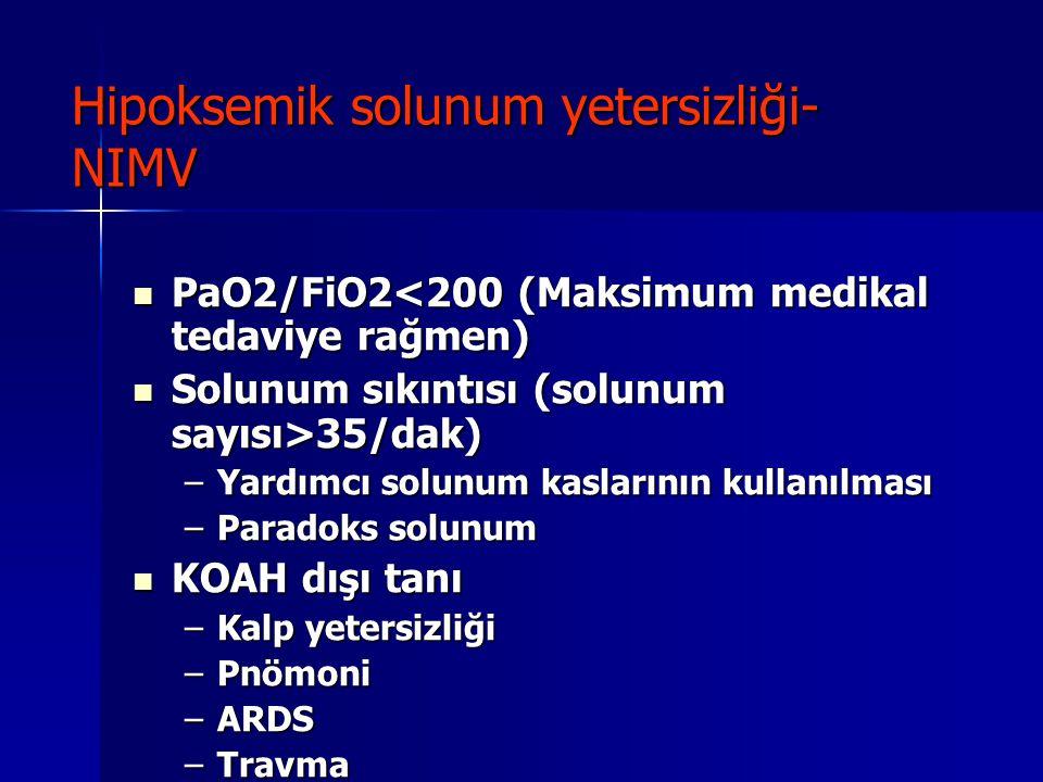 Hipoksemik solunum yetersizliği- NIMV