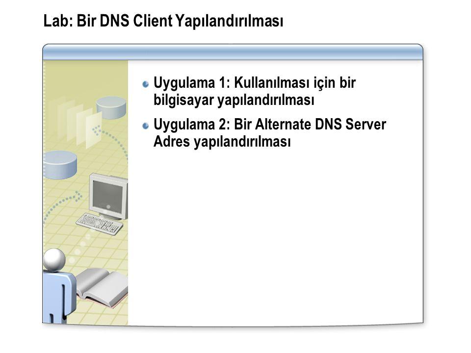 Lab: Bir DNS Client Yapılandırılması