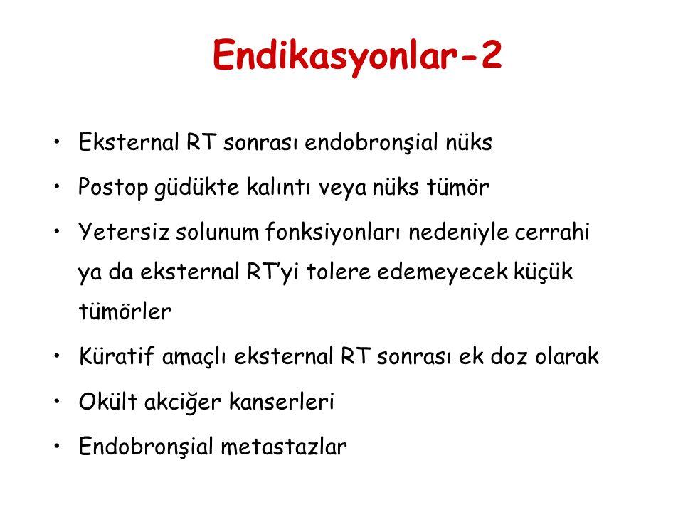 Endikasyonlar-2 Eksternal RT sonrası endobronşial nüks