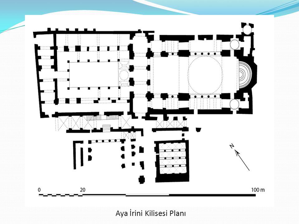 Aya İrini Kilisesi Planı