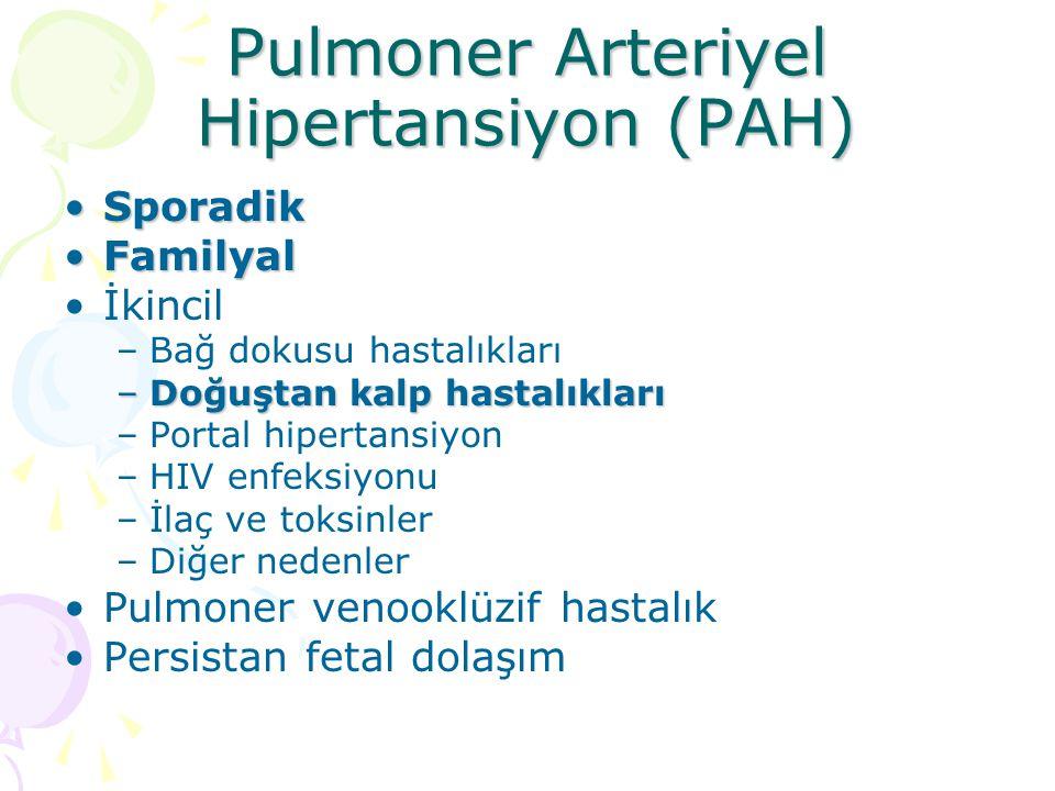 Pulmoner Arteriyel Hipertansiyon (PAH)