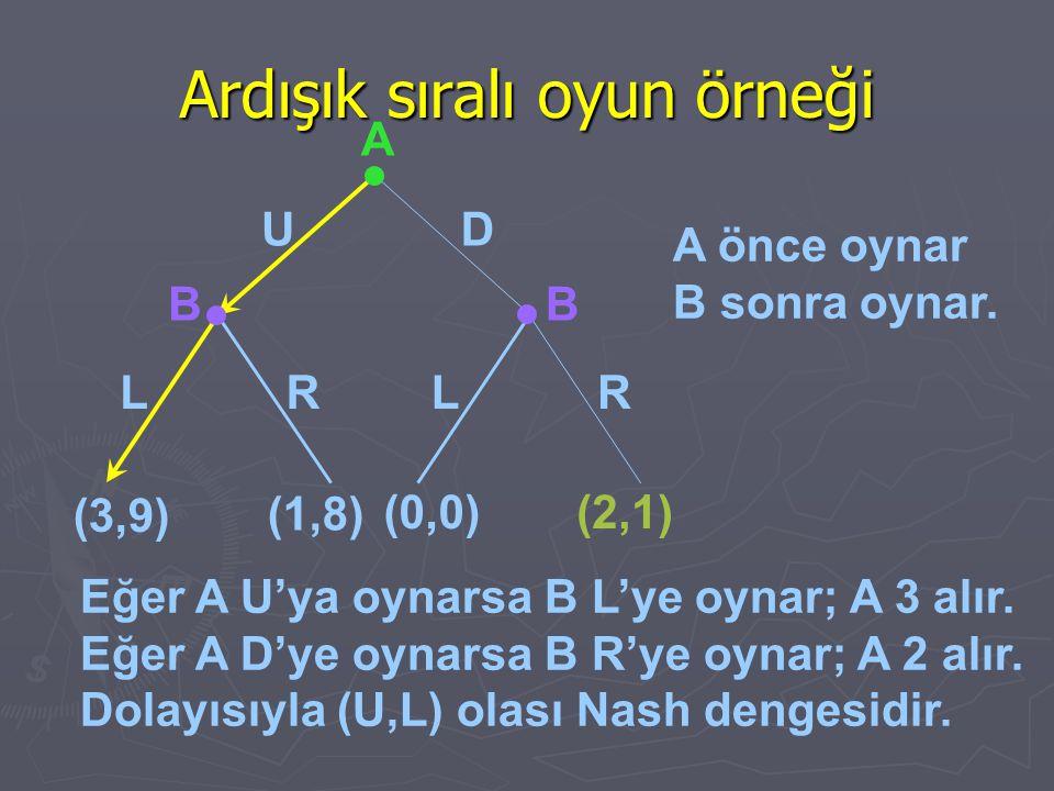 Ardışık sıralı oyun örneği