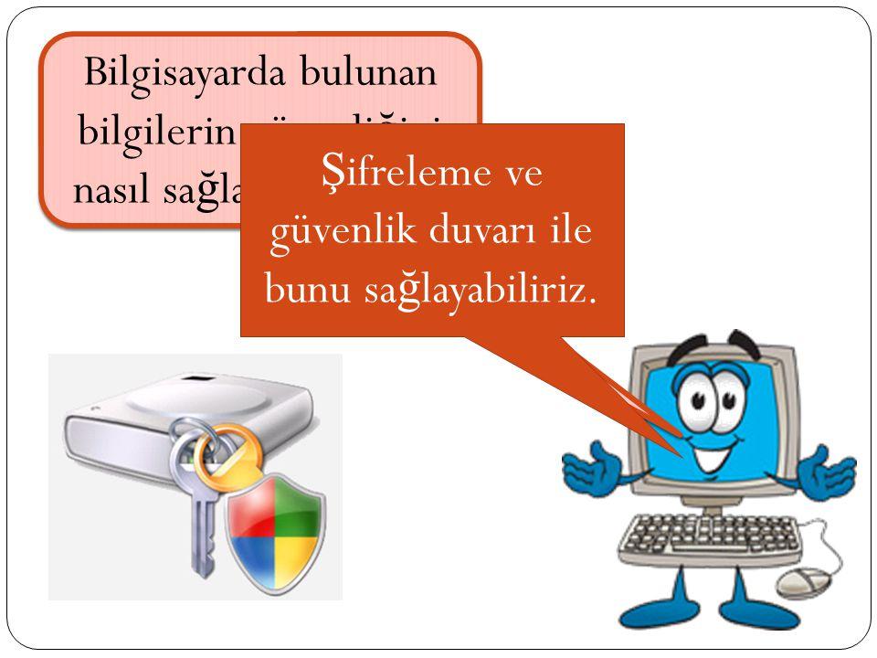 Bilgisayarda bulunan bilgilerin güvenliğini nasıl sağlarız o halde