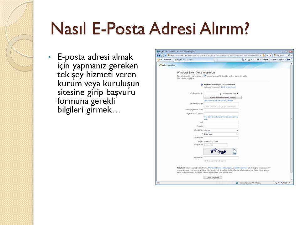 Nasıl E-Posta Adresi Alırım