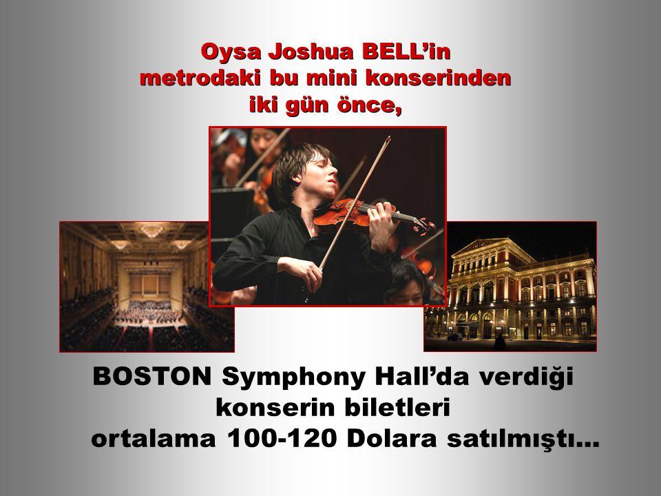 BOSTON Symphony Hall'da verdiği konserin biletleri