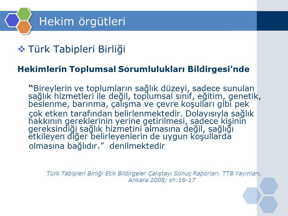 Hekim örgütleri Türk Tabipleri Birliği