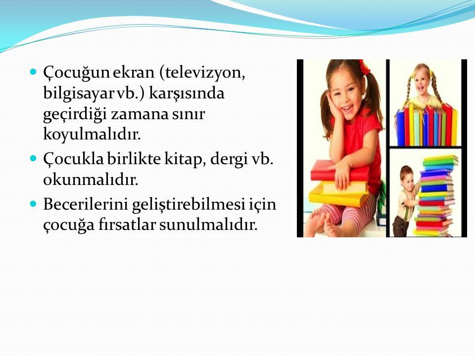 Çocuğun ekran (televizyon, bilgisayar vb