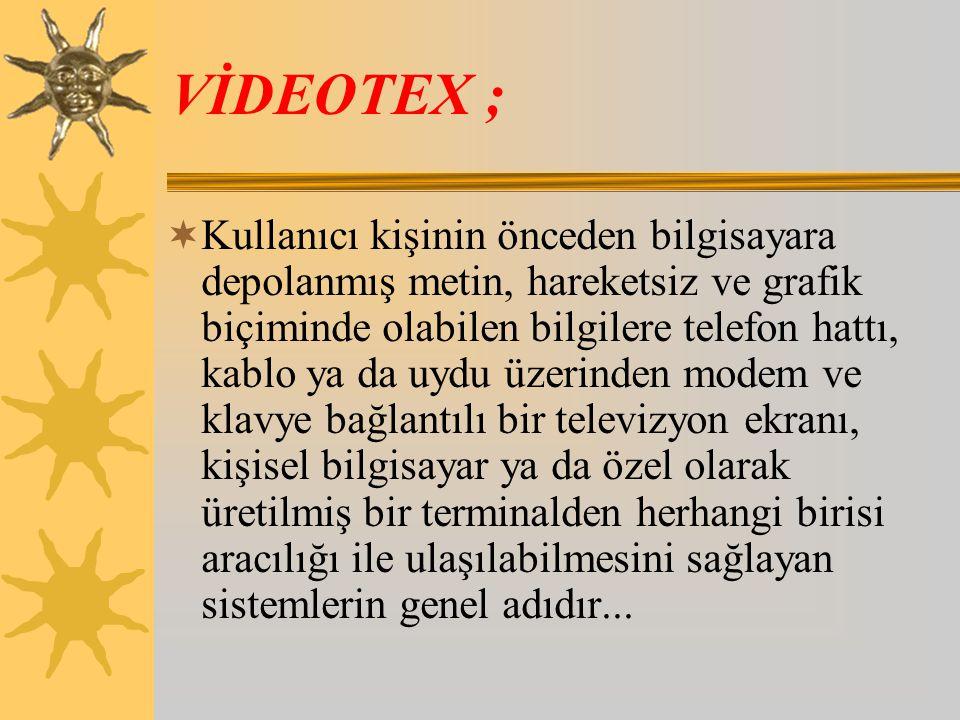 VİDEOTEX ;