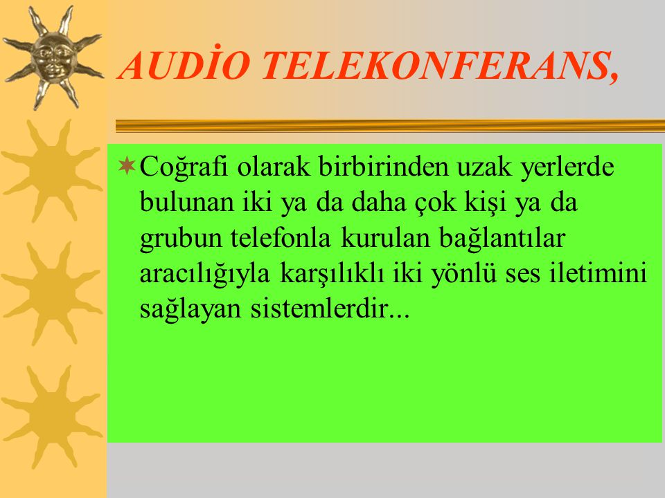 AUDİO TELEKONFERANS,