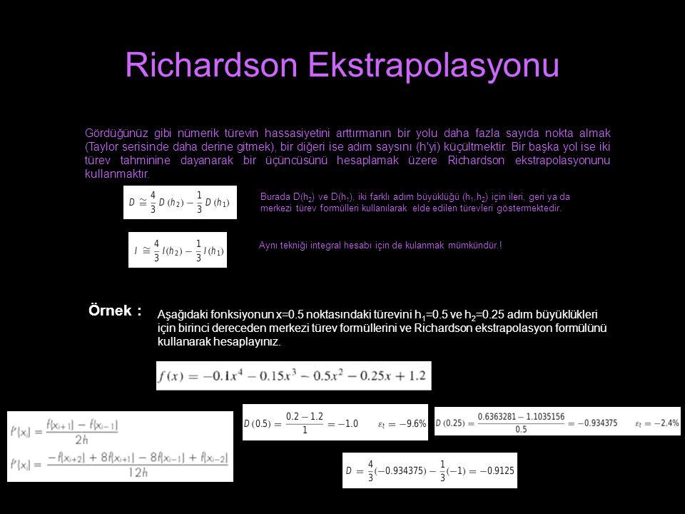 Richardson Ekstrapolasyonu