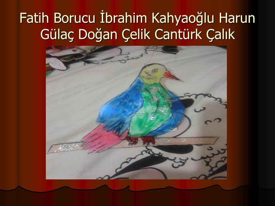 Fatih Borucu İbrahim Kahyaoğlu Harun Gülaç Doğan Çelik Cantürk Çalık