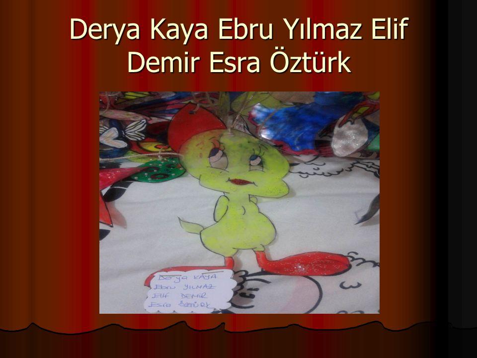 Derya Kaya Ebru Yılmaz Elif Demir Esra Öztürk