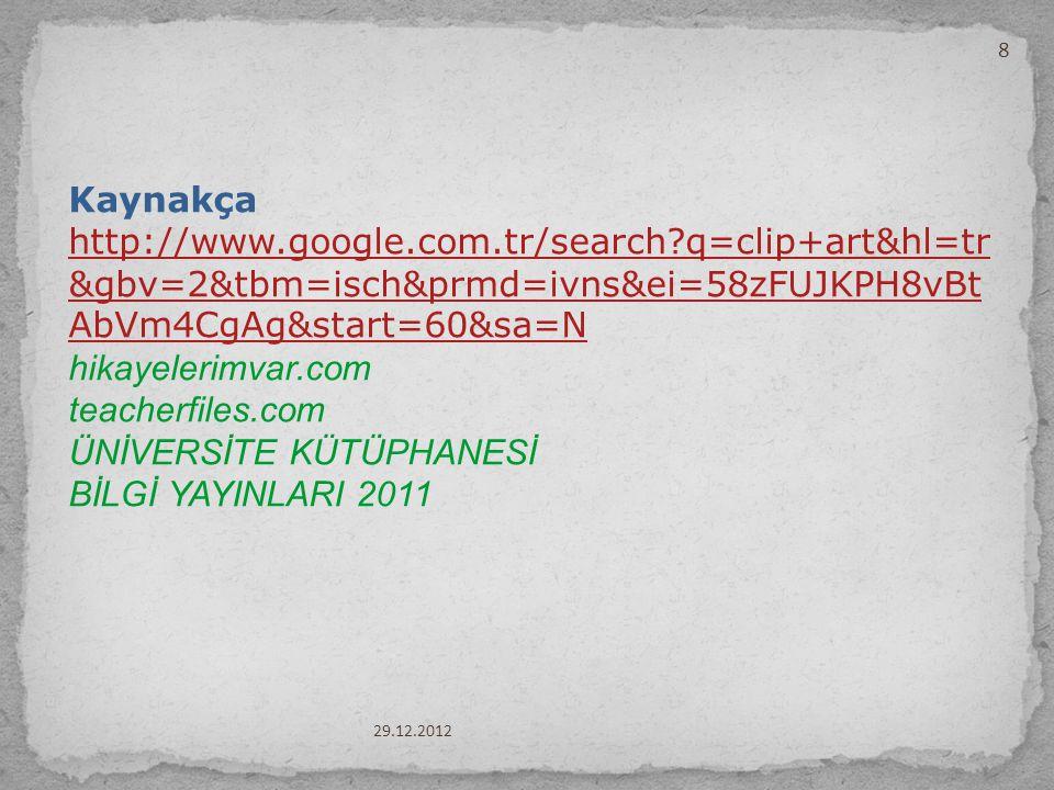 ÜNİVERSİTE KÜTÜPHANESİ BİLGİ YAYINLARI 2011