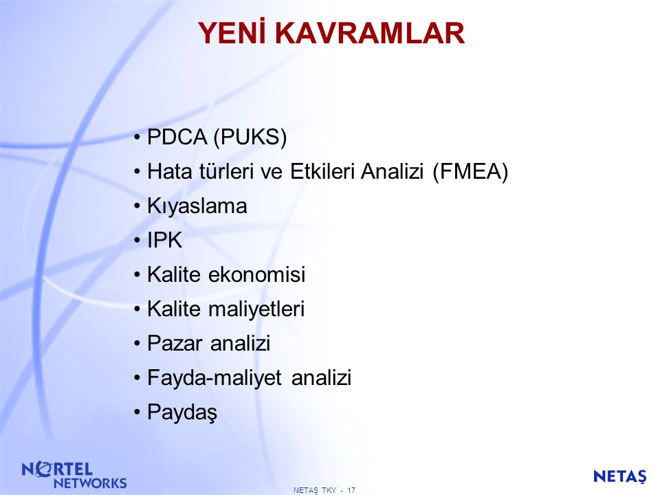 ISO 9000:1994, 2000 ve EFQM Modeli ISO 9000 Mevcut ISO 9000 2000 EFQM