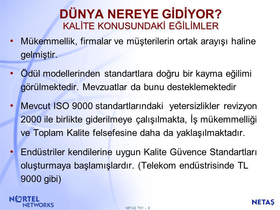 ISO9000 1994'ün YETERSİZLİKLERİ
