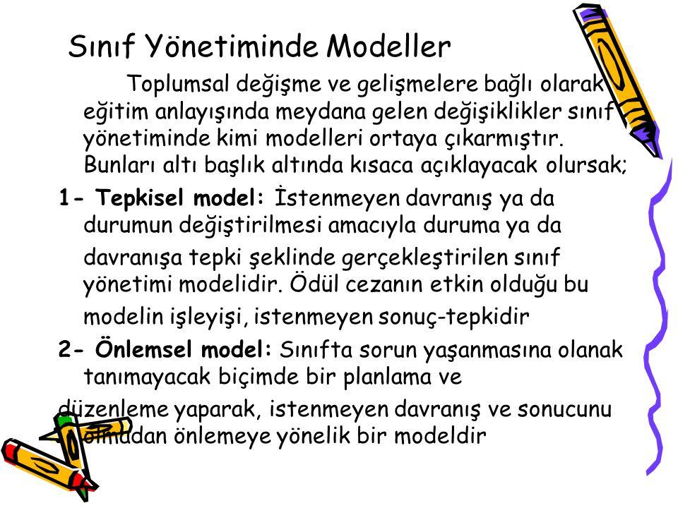 Sınıf Yönetiminde Modeller