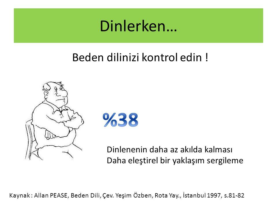 %38 Dinlerken… Beden dilinizi kontrol edin !