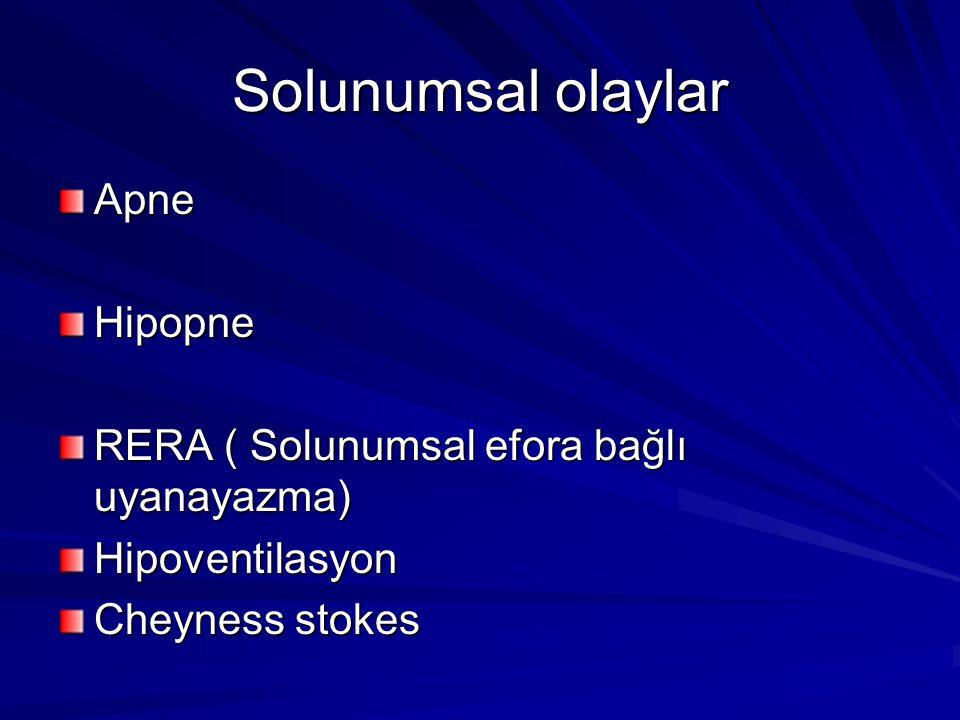 Solunumsal olaylar Apne Hipopne