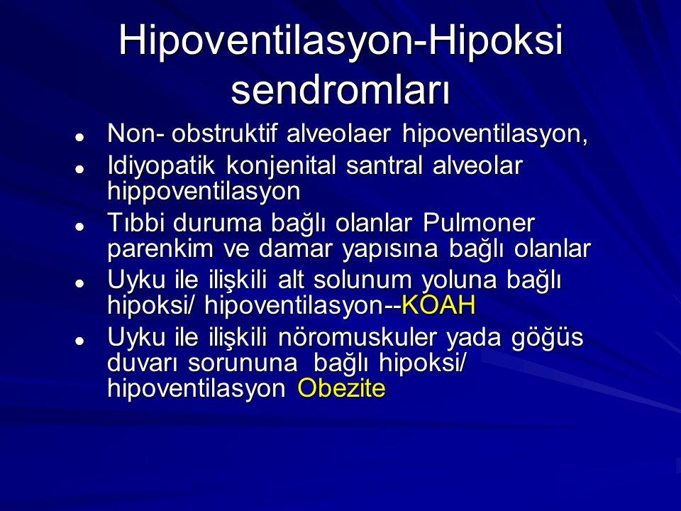 Hipoventilasyon-Hipoksi sendromları