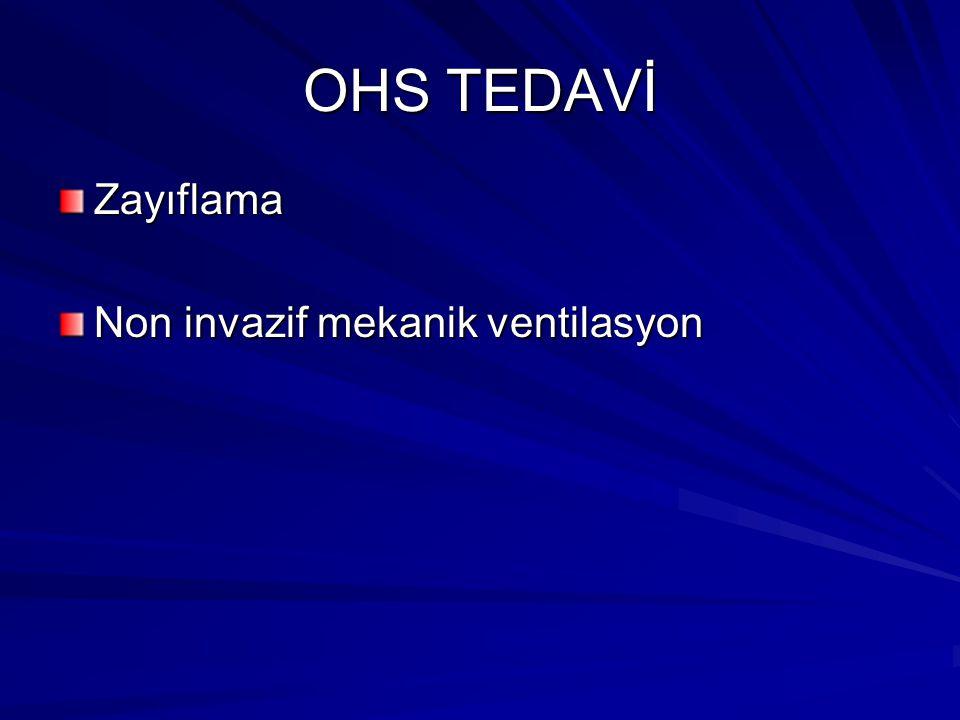 OHS TEDAVİ Zayıflama Non invazif mekanik ventilasyon