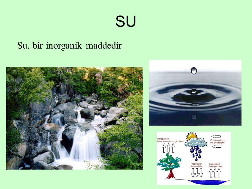 SU Su, bir inorganik maddedir