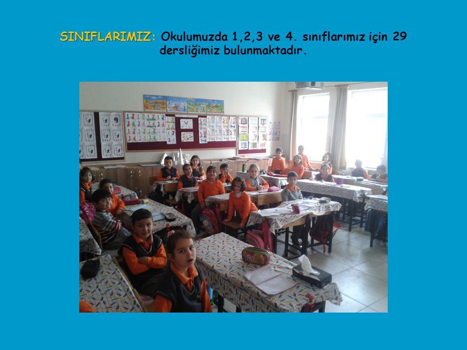 SINIFLARIMIZ: Okulumuzda 1,2,3 ve 4