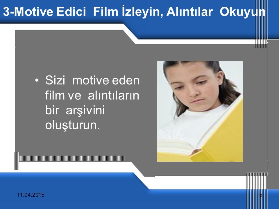3-Motive Edici Film İzleyin, Alıntılar Okuyun