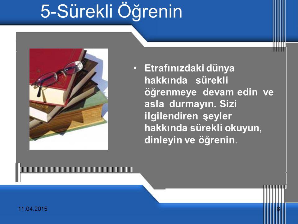 5-Sürekli Öğrenin