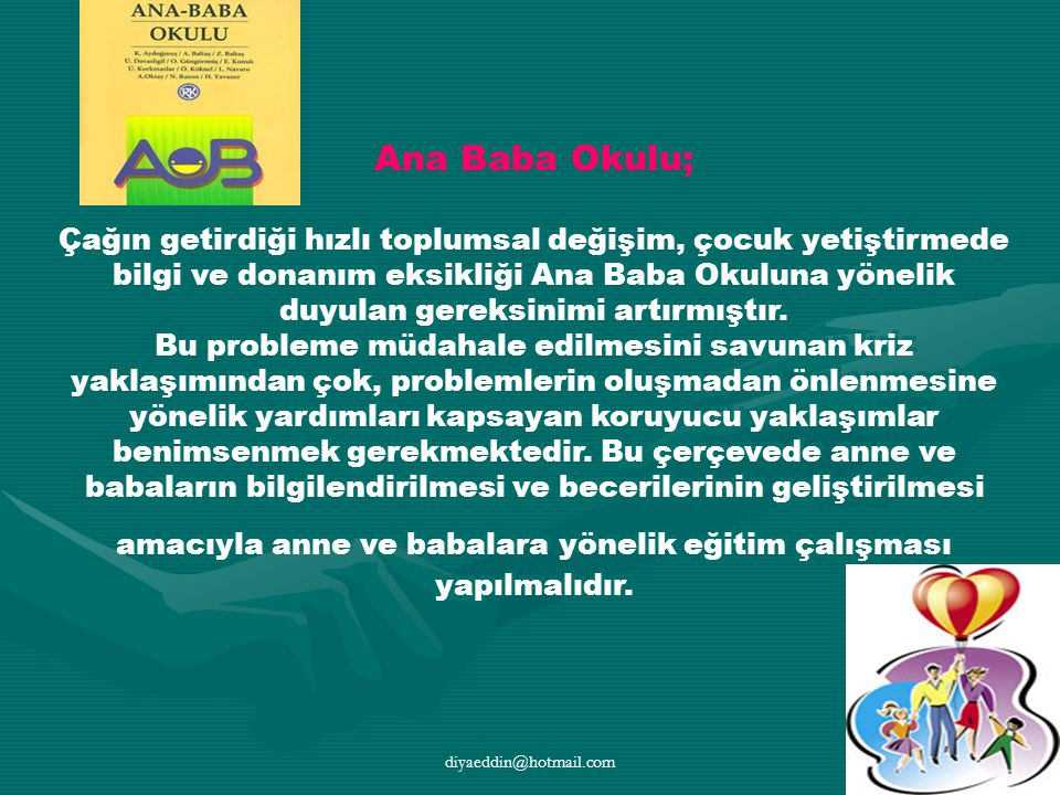 Ana Baba Okulu;