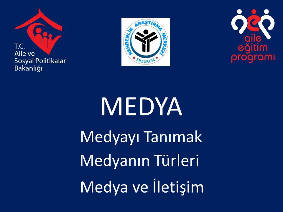 MEDYA Medyayı Tanımak Medyanın Türleri Medya ve İletişim