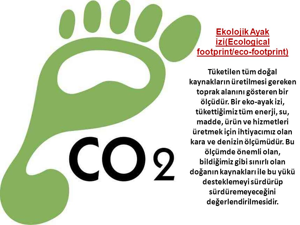 Ekolojik Ayak izi(Ecological footprint/eco-footprint)