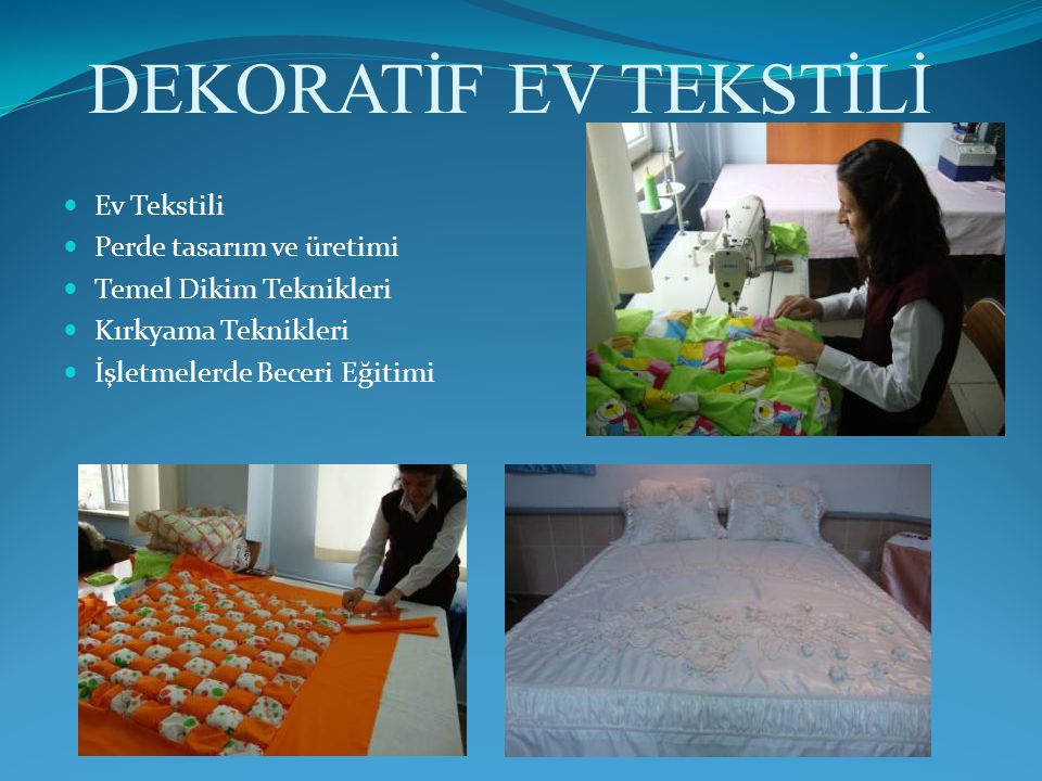 DEKORATİF EV TEKSTİLİ Ev Tekstili Perde tasarım ve üretimi