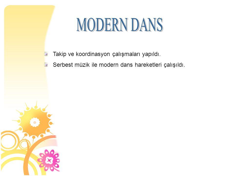 MODERN DANS Takip ve koordinasyon çalışmaları yapıldı.