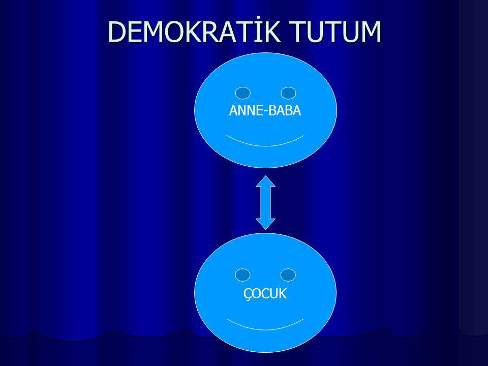 DEMOKRATİK TUTUM ANNE-BABA ÇOCUK