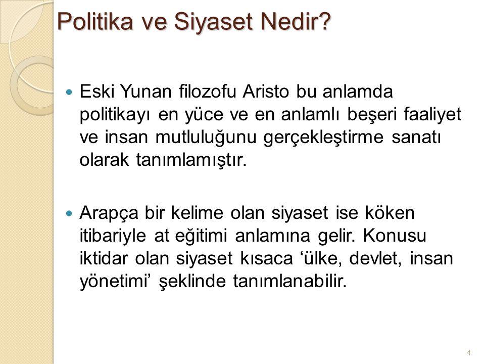 Politika ve Siyaset Nedir