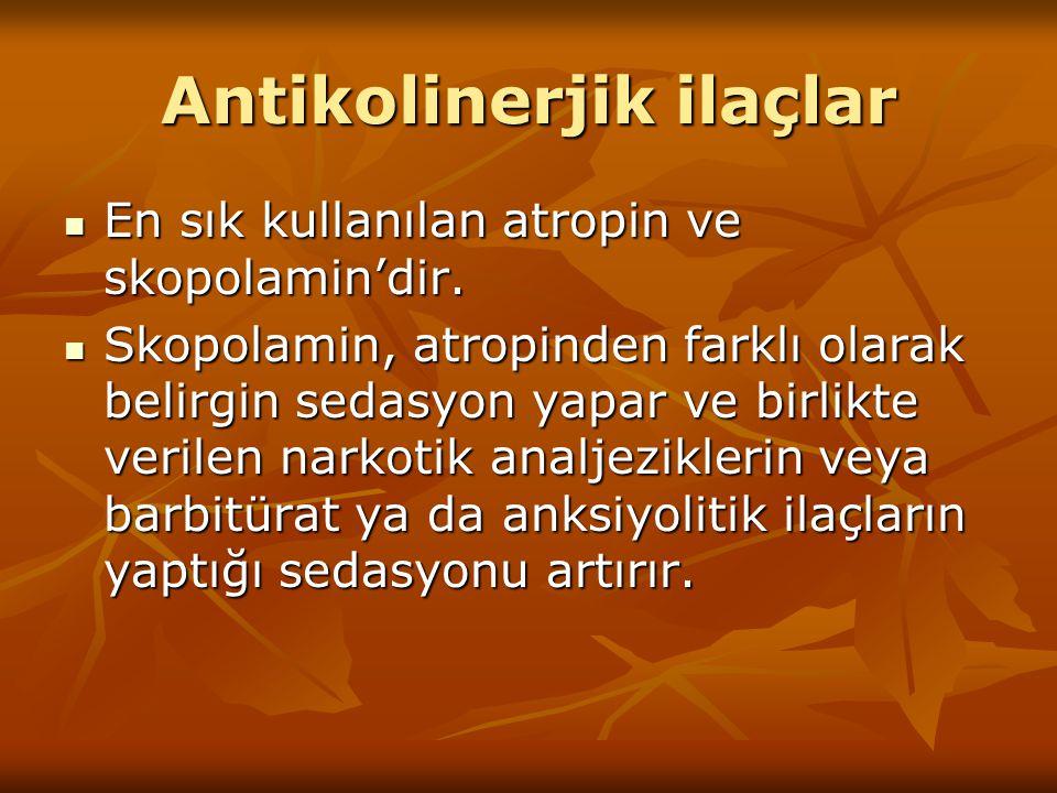 Antikolinerjik ilaçlar