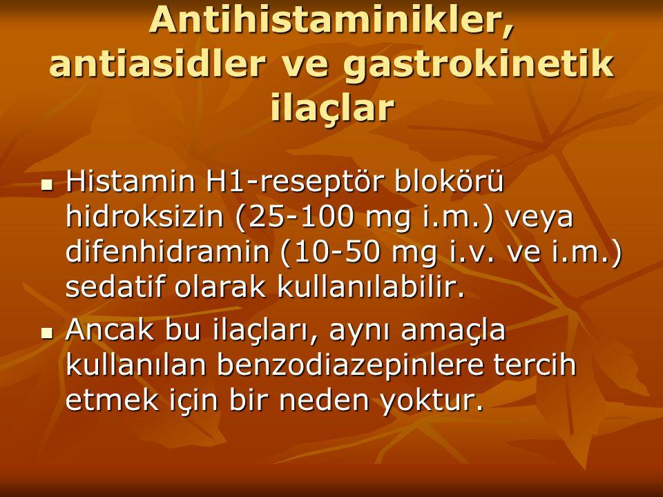 Antihistaminikler, antiasidler ve gastrokinetik ilaçlar