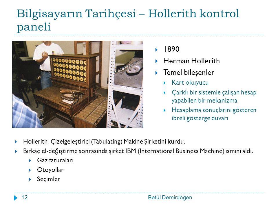 Bilgisayarın Tarihçesi – Hollerith kontrol paneli