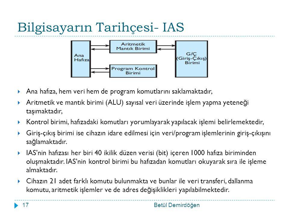 Bilgisayarın Tarihçesi- IAS