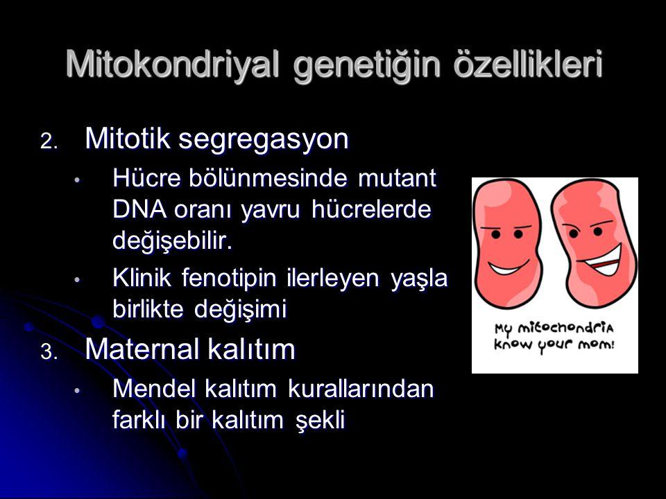 Mitokondriyal genetiğin özellikleri