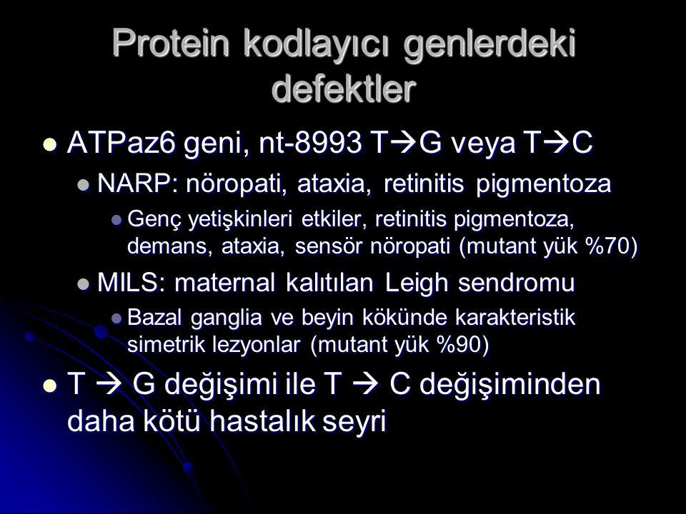 Protein kodlayıcı genlerdeki defektler