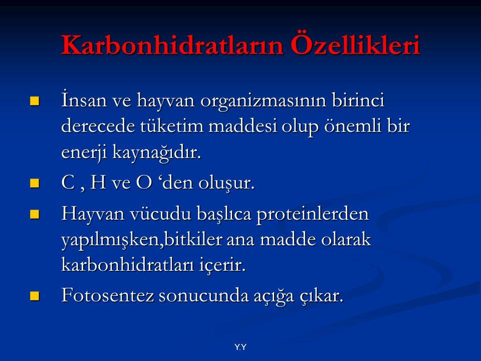 Karbonhidratların Özellikleri